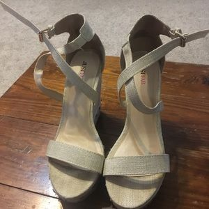 Wedge Heels Cream Colored